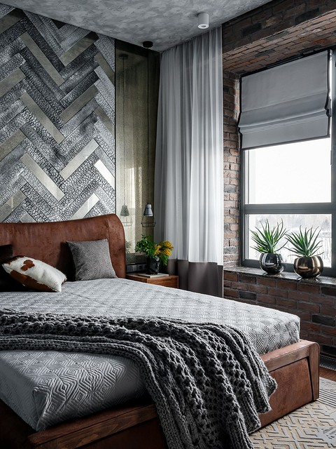 Спальня также оформлена с прим&...
