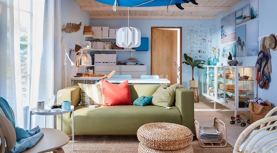 Как оформить дешевую гостиную с ИКЕА: нашли 11 подходящих товаров