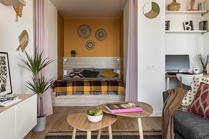 Однокомнатная квартира в скандинавском стиле с элементами бохо