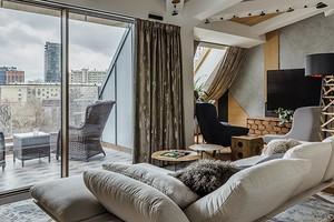 Квартира-мансарда с балконом на крыше