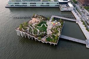 Вид на Гудзон и 400 видов растений: в Нью-Йорке открыли парк-остров