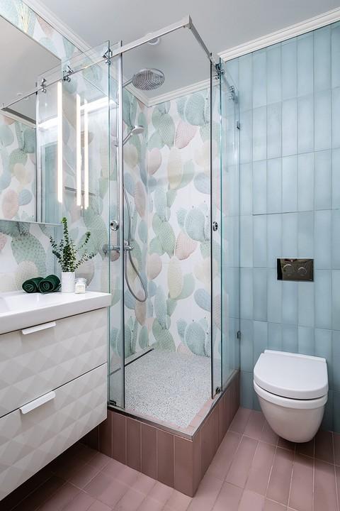 В ванной комнате отказались от...