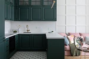 Зеленый, розовый, синий: красочная квартира для семьи