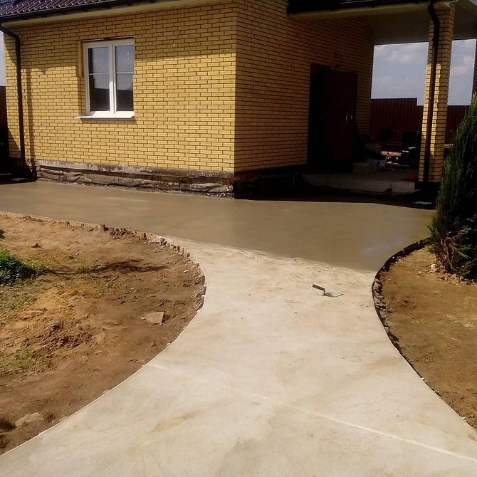 Садовые дорожки из бетона на даче своими руками: пошаговая инструкция, как правильно залить