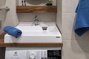 Стиральная машина под раковину в ванной комнате: как все сделать красиво