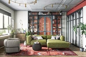 Эффектно и современно: 40 фото интерьеров с бетонным потолком