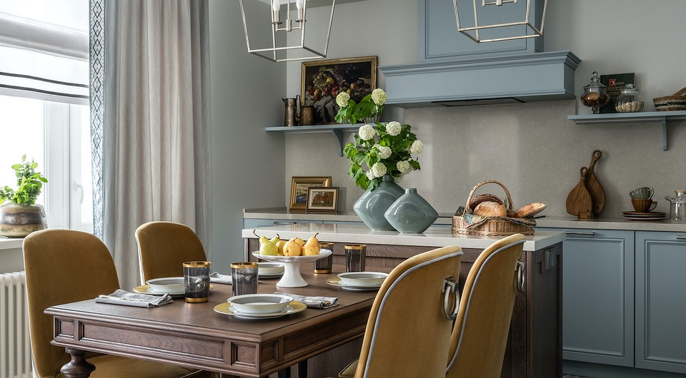 Из двух квартир — в одну: шикарный интерьер в стиле американской классики