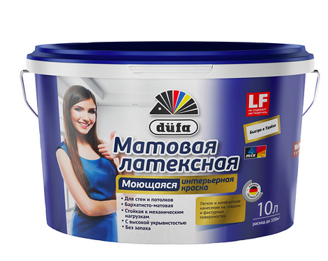 Краска водно-дисперсионная Mattlatex Mix база 1, 10 л