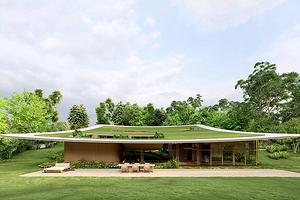 Дом с зеленой крышей: архитектор воплотил необычный проект в Бразилии