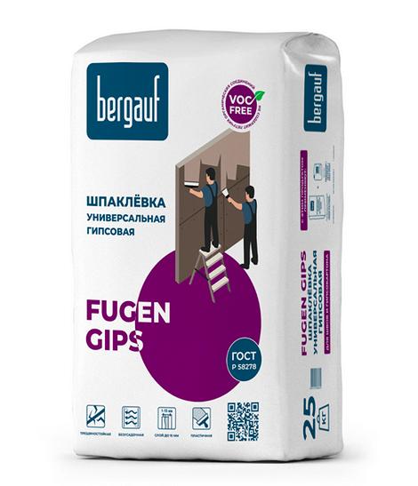 Шпаклёвка гипсовая финишная Bergauf Fugen Gips, 25 кг