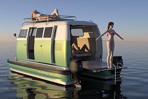 Дом-машина на воде: дизайнер разработал необычный водный транспорт