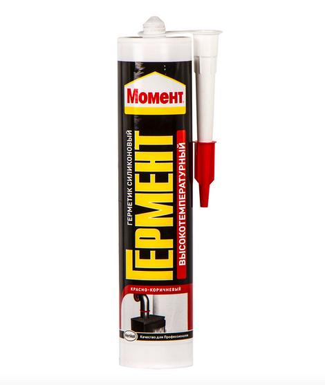 Герметик Момент Гермент высокотемпературный, цвет красно-коричневый, 300 мл