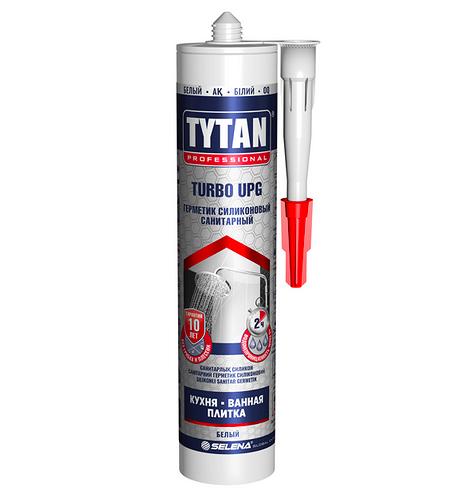 Герметик санитарный Tytan Turbo Upg силиконовый, 280 мл, цвет белый
