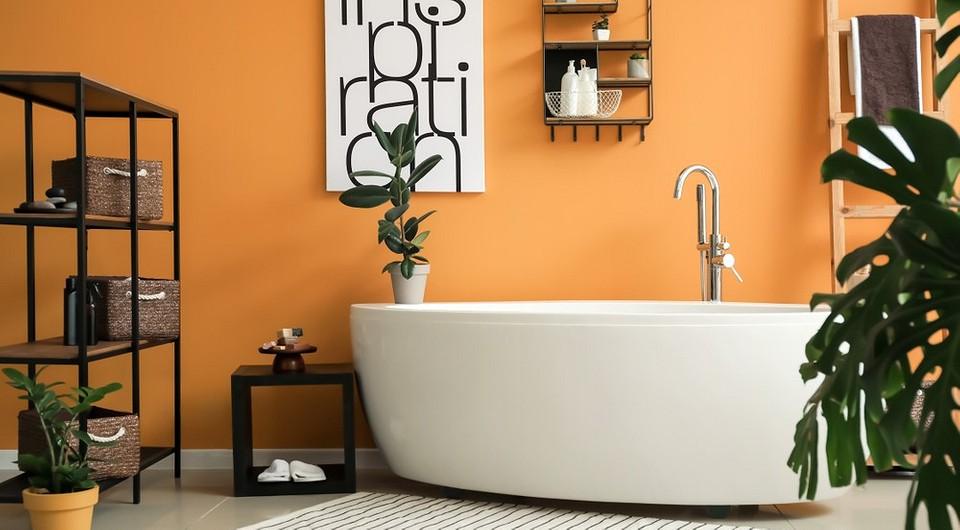 7 ярких цветов, которые вы не догадались бы применить в ванной комнате
