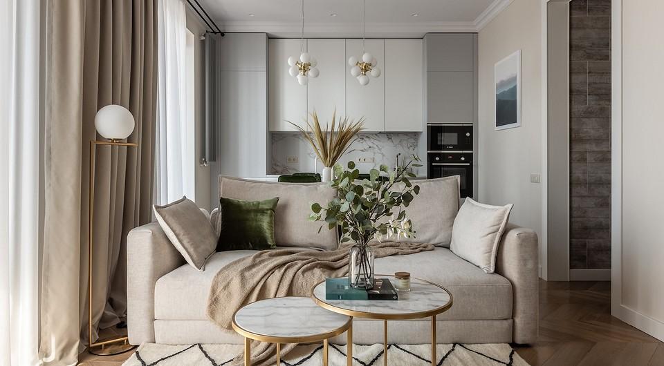 Уютная современная классика в маленькой квартире в Самаре