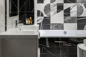 Черно-белая ванная: советы по оформлению и 100 фото, которые вдохновят