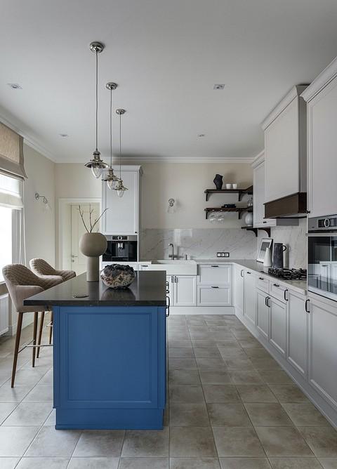 Кухня объединена с гостиной-ст&...
