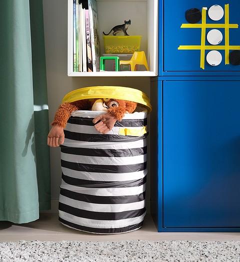 Хранение игрушек в мягких корз&...
