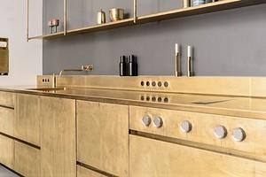 Для смелых и стильных: 6 потрясающих «золотых» кухонь