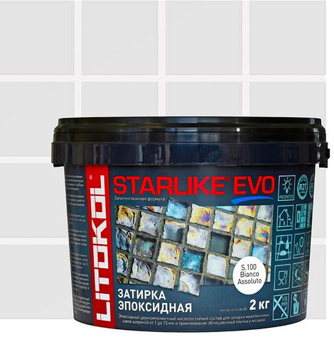 Затирка эпоксидная Starlike Evo, абсолютно белый, 2 кг