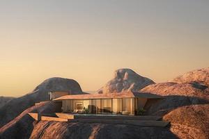 Курорт в горе: архитекторы представили необычный проект в Саудовской Аравии