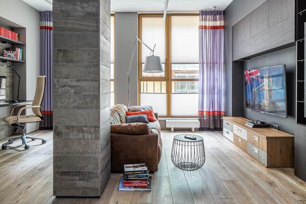 Интерьер небольшой квартиры с «мужским»характером