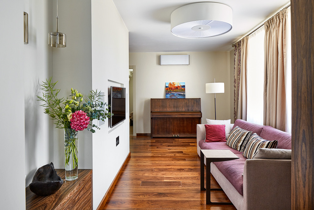 Интерьер квартиры с радиусными стенами