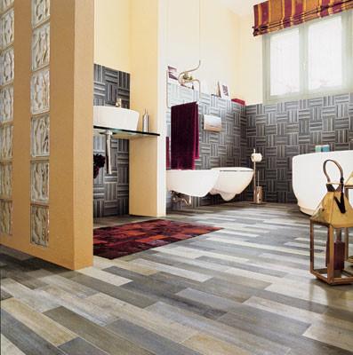 Плитка для ванной и… гостиной