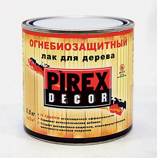 Огнезащитный лак для дерева Pirex Decor