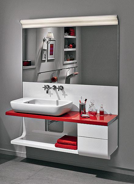 Цвет задает настроение: керамика и мебель для ванной комнаты