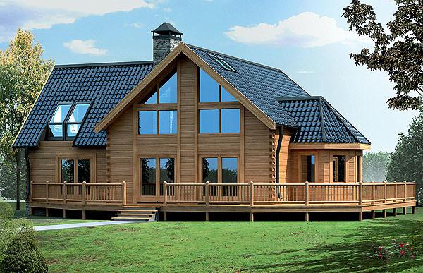Сухой деревянный дом