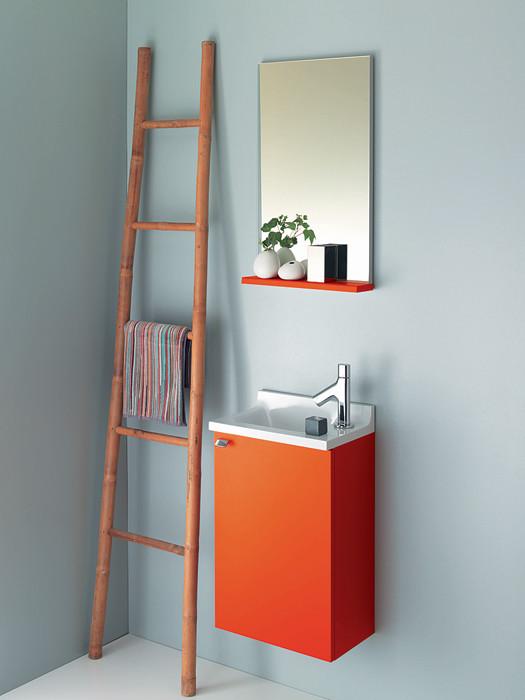 Для компактной ванной: линейки мебели