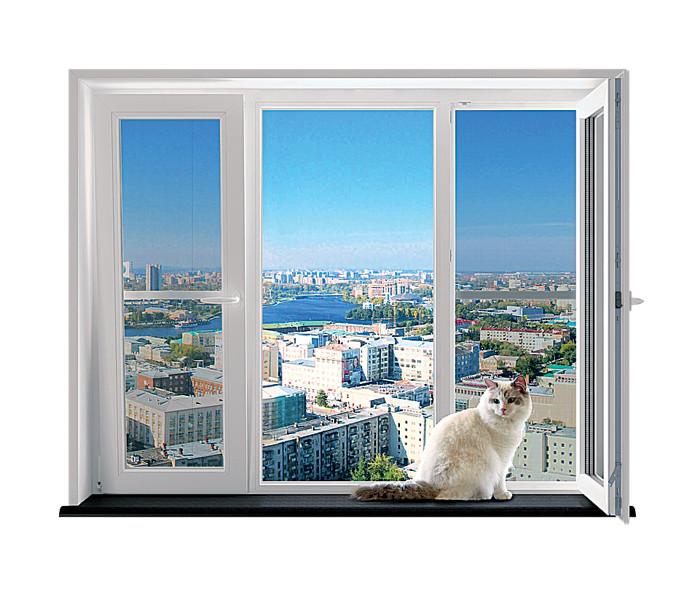 Ваша кошка не убежит: специальная оконная сетка