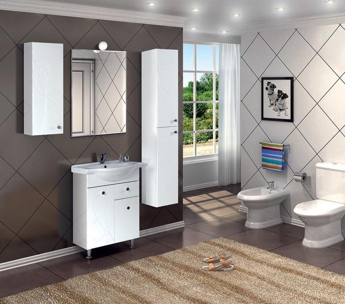 Коллекция мебели для небольших ванных комнат