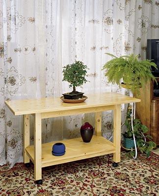 Мобильный столик для малогабаритной квартиры