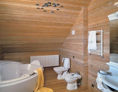 Обустройство санузлов в деревянных домах