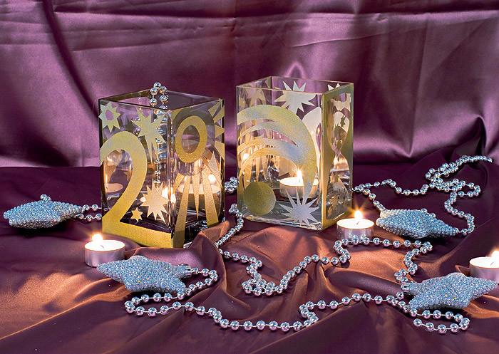 Новогодние превращения стекла