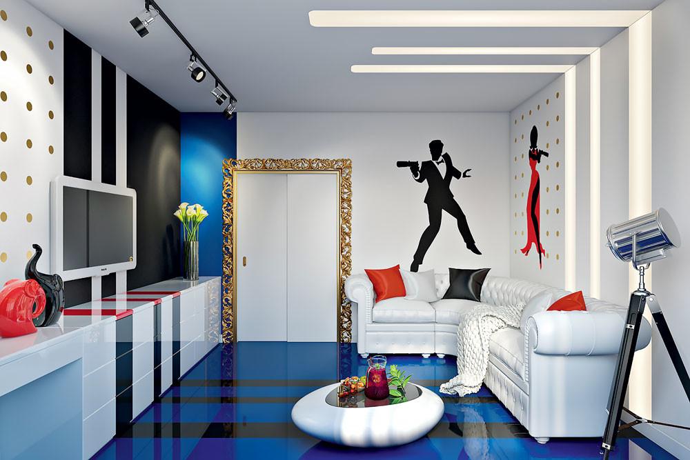 Интерьер маленькой квартиры в стиле поп-арт