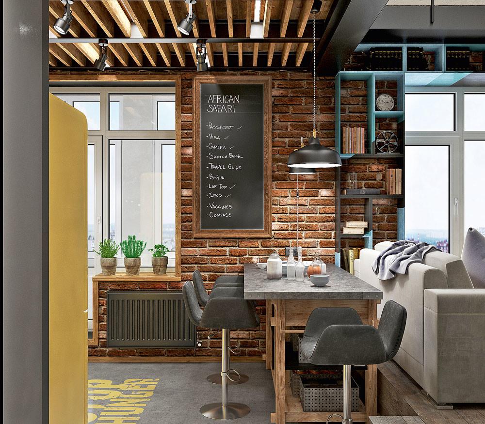 Двухуровневый лофт: современная квартира для семьи с детьми