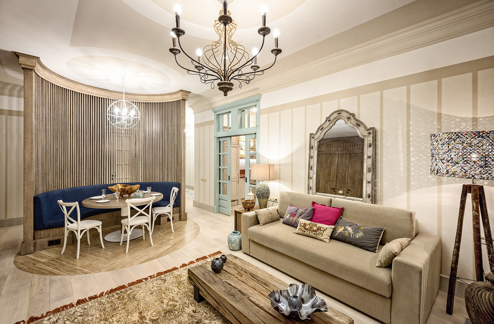 Интерьер петербургской квартиры в средиземноморском стиле