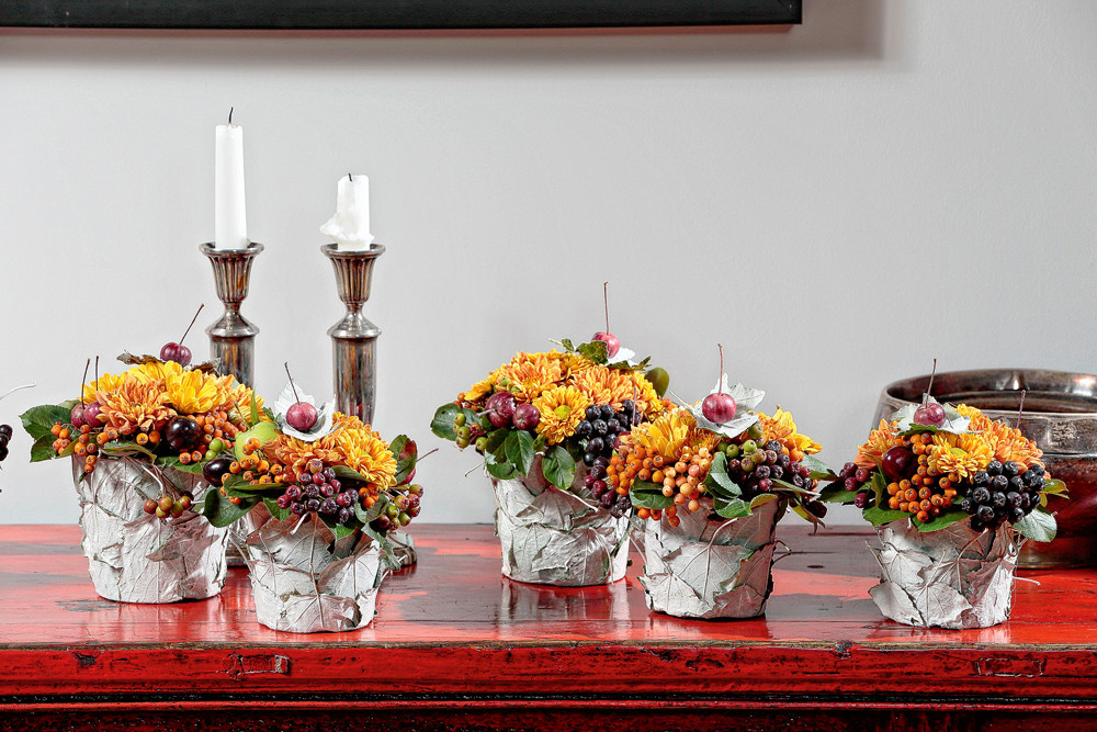 Флористический декор стола