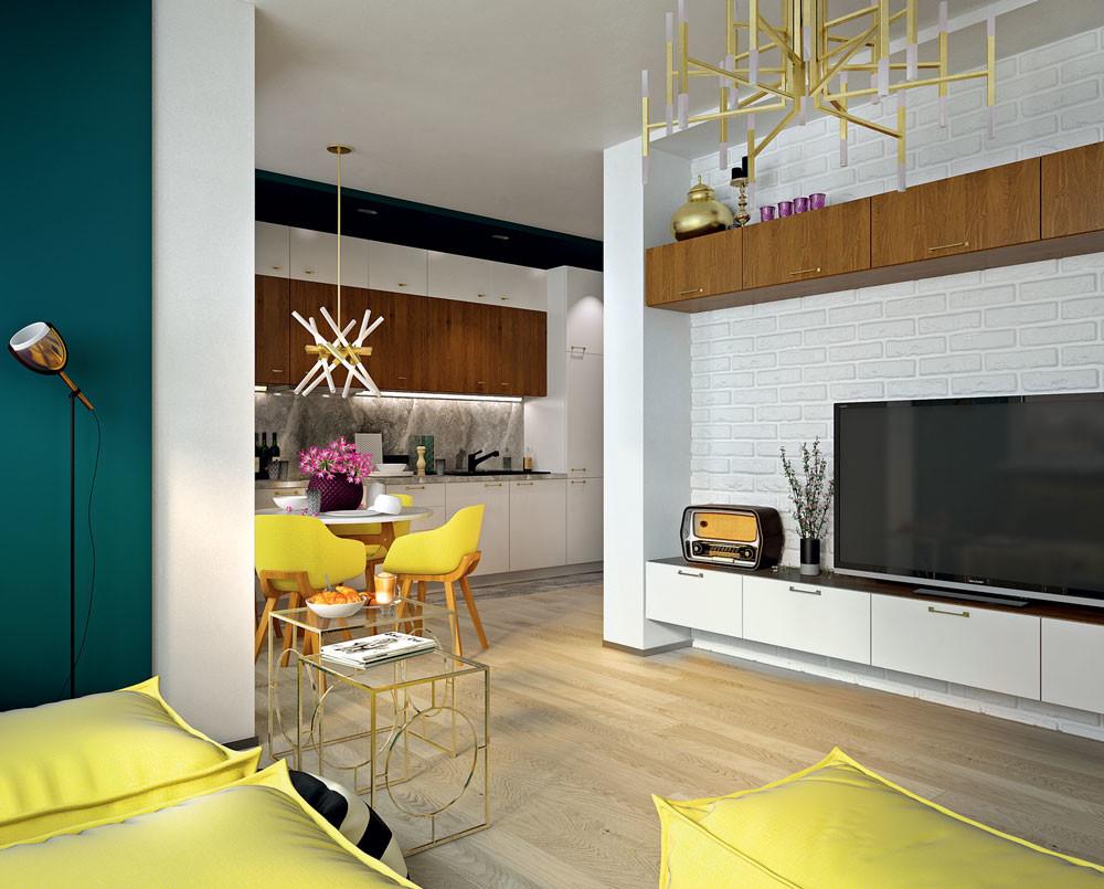 Каждому поколению по комнате: проект квартиры для семьи из четырех человек