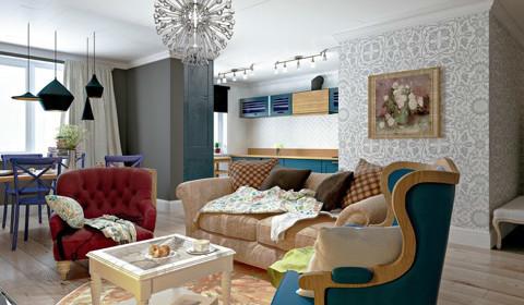 Объединяя трёхкомнатную и однокомнатную квартиры