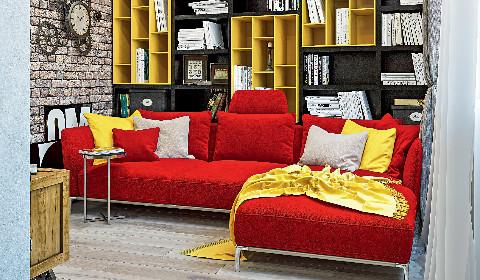 Все оттенки красного в интерьере квартиры
