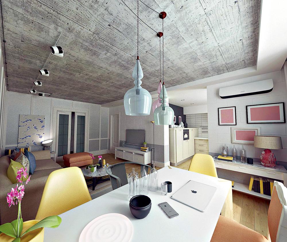 3+1: функциональный интерьер объединенной квартиры