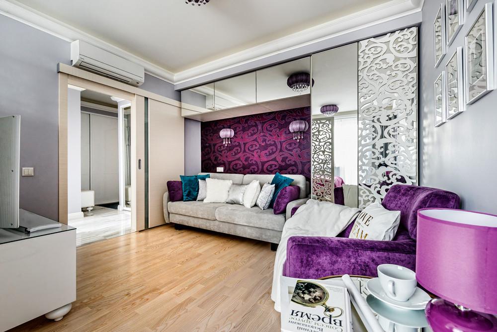 Интерьер однокомнатной квартиры в стиле фьюжн
