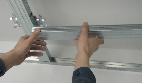 Как смонтировать подвесной гипсокартонный потолок