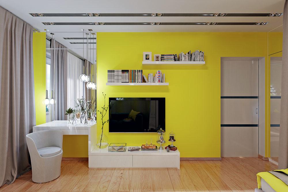 Секрет правильного зонирования: интерьер однокомнатной квартиры