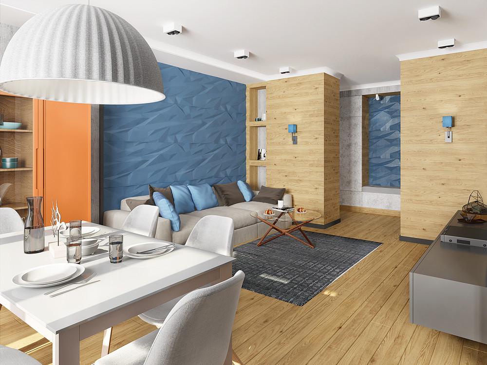 Для большой семьи: стиль контемпорари в интерьере квартиры
