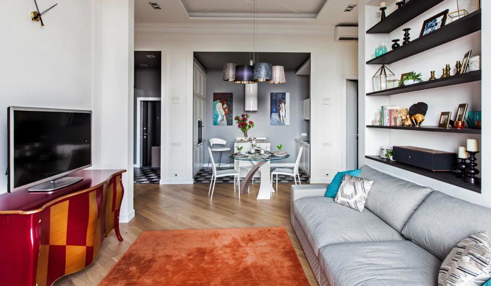 Интерьер в современном стиле: квартира для молодой семьи